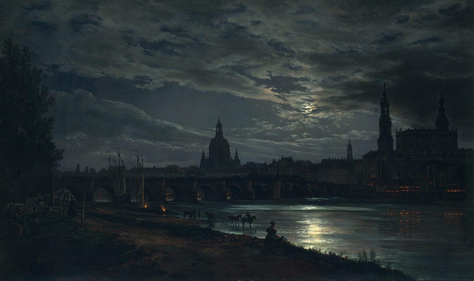 J.C.Dahl: Dresden i måneskinn